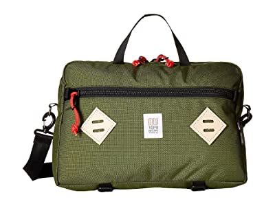 Topo Designs Mountain Briefcase (Olive) Briefcase Bags