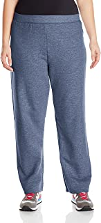 Just My Size Women's Plus-Size Fleece Sweatpant, Navy Heather, 3XL