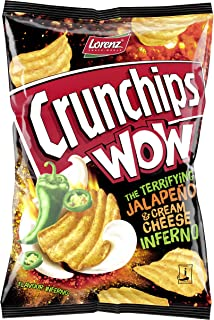 Lorenz Snack World Crunchips WOW Jalapeño & Cream Cheese, 10er Pack 10 x 110 g