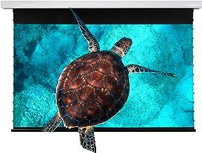 VIVIDSTORM ドロップダウン 電動スクリーン 4K/UHD レーザーTV ホーム シアター プロジェクター 120インチ 周囲光拒否 ムービー オフィス プレゼンテーション ビデオ ホワイトハウジング ,スクリーン-VMSLUST120H