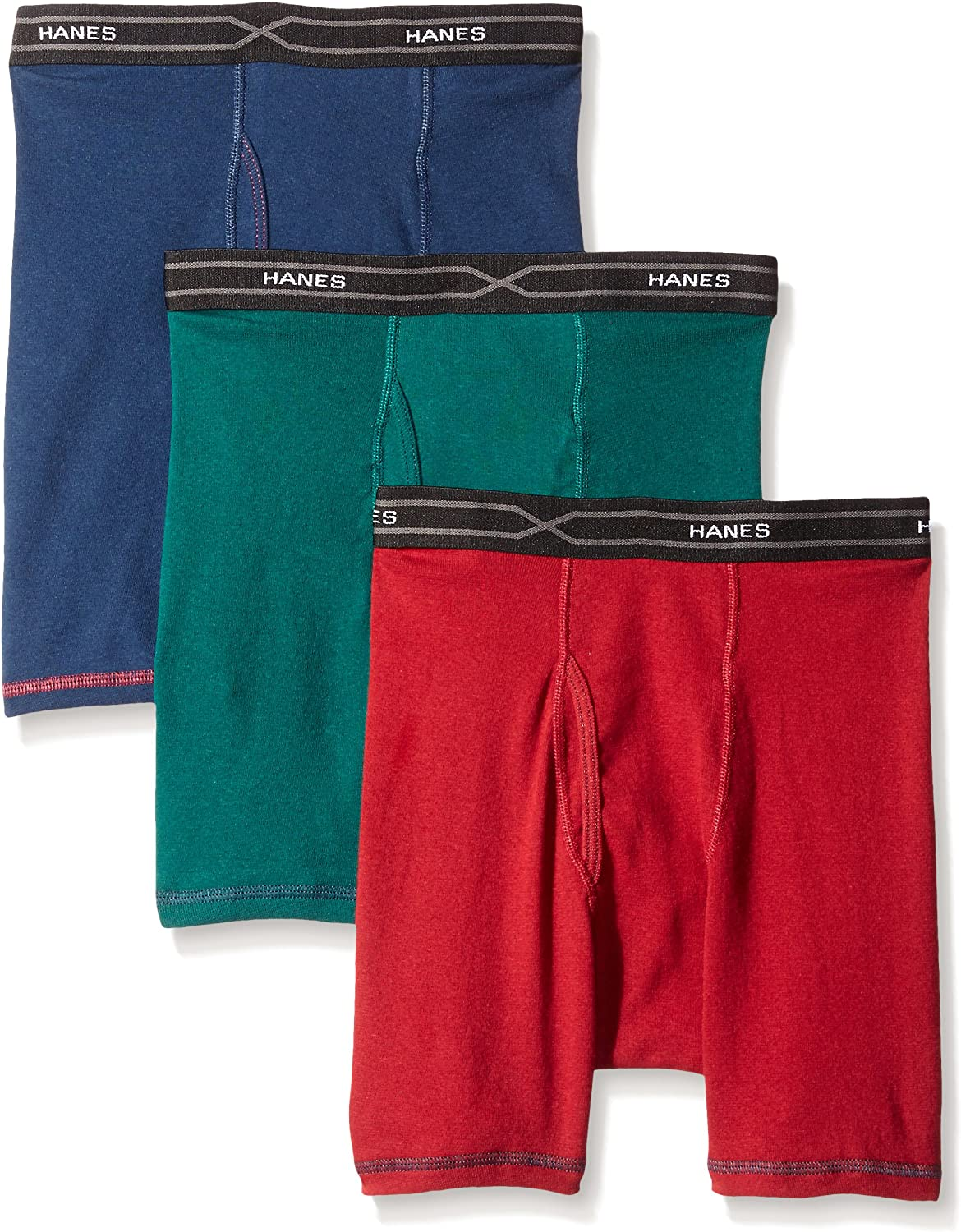 Hanes Men's 3-Pack X-Temp Comfort Cool Dyed Boxer Brief