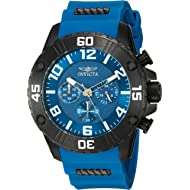 Invicta Men's Pro Diver Stainless Steel Quartz Watch with Silicone Strap, Blue, 24 (Model: 22701