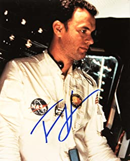 Apollo 13 - Tom Hanks Autographed 8x10 Color Photo - Signed in Blue Sharpie - Obtained In Person - As Jim Lovell - Films: Saving Private Ryan / Cars / Toy Story / Green Mile - Out of Print - Rare - Collectible