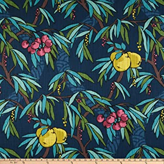 Robert Allen Home Nouveau Fruit Duck Fabric, Admiral, Fabric By The Yard
