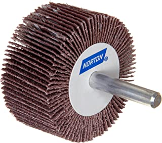 Aluminum Oxide Gobain Abrasives 63642502686 1-1//2 Face Width St Grit 60 6200 Max RPM Pack of 1 1-1//2 Face Width 1 Arbor 6 Dia Norton Metalite R265 Abrasive Flap Wheel 6 Dia. 1 Arbor Round Hole