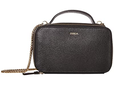 Furla Babylon Medium Crossbody (Onyx) Handbags
