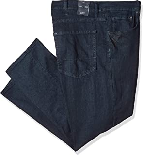 Nautica Men's Streight Fit Deep Dark Stretch 5 Pocket Jean Jeans