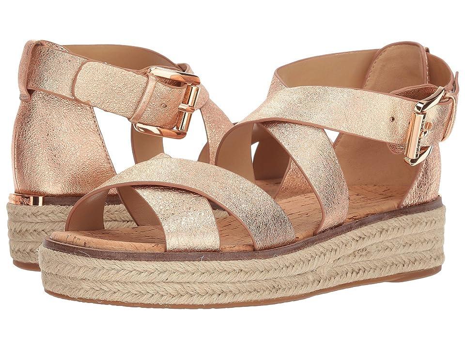 MICHAEL Michael Kors Darby Sandal (Soft Pink Metallic Crackle/Jute) Women