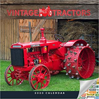 Vintage Tractors Calendar 2020 Set - Deluxe 2020 Vintage Tractors Wall Calendar with Over 100 Calendar Stickers (Farming Gifts, Office Supplies)