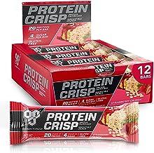 BSN Protein Bars - Protein Crisp Bar by Syntha-6, Whey Protein, 20g of Protein, Gluten Free, Low Sugar, Strawberry Crunch,...