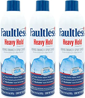 Faultless Heavy Spray Starch 20 oz Cans (3 Pack)