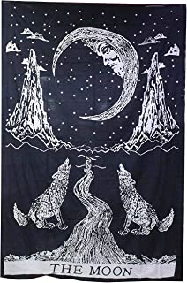 raajsee Crying Wolf Tapestry (Wolf 54 X 71 INCHES)