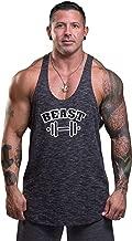Men's Gym Stringer Tank Top Bodybuilding Athletic Workout Muscle Fitness Vest