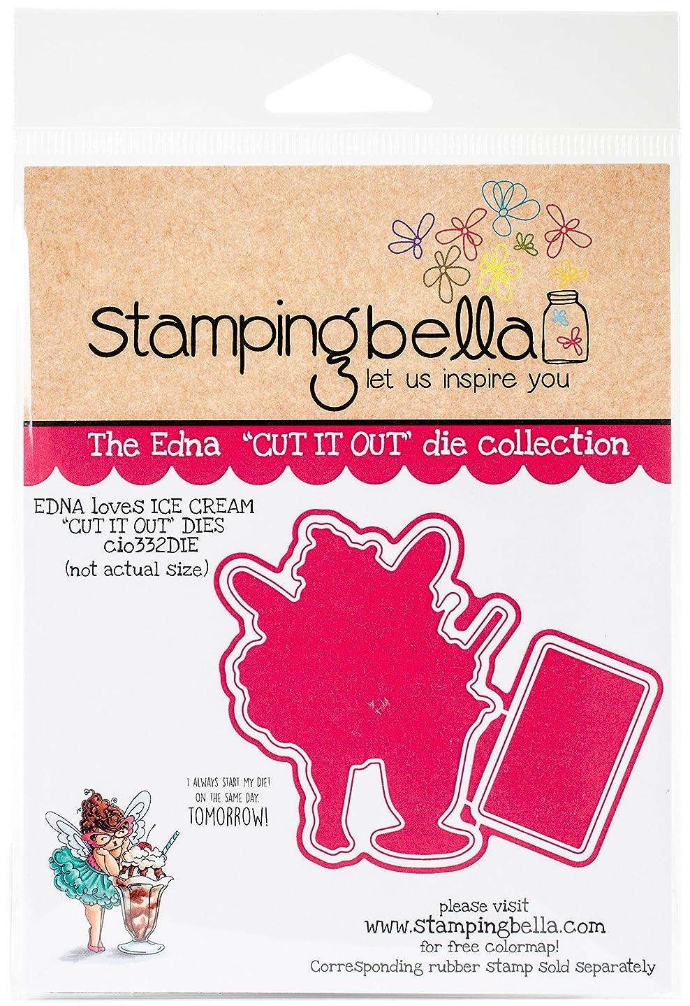 Stamping Bella CIO332DIE Cut It Out Dies-Edna Loves Ice Cream,