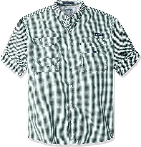 Columbia Men's Super Bonehead Classic Long Sleeve Shirt, Thyme vert Gingham, X-Large