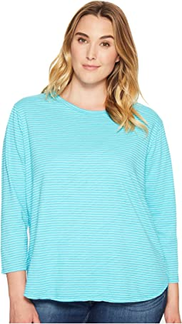 Extra Fresh by Fresh Produce - Plus Size Pinstripe Catalina Top