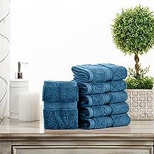 مجموعة مناشف حمام من سوبريور باث إكسبرير، 6 قطع، وجه أزرق، 6 قطع