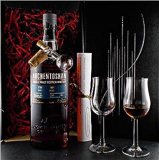 Geschenk Auchentoshan Three Wood Single Malt Whisky  Glaskugelportionierer  2 Whiskey Gläser