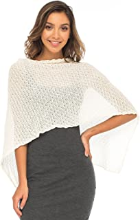 Back From Bali Womens Cotton Shrug Poncho, Lightweight Summer Shrug Pullover Sweater