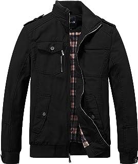 Wantdo Men's Military Cotton Lightweight Casual Stand Collar Windbreaker Jacket