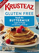 Krusteaz Gluten Free Buttermilk Pancake Mix, 16-Ounce Boxes (Pack of 8)