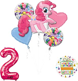 My Little Pony Mayflower Products Pinkie Pie 2nd Birthday Party Supplies and Balloon Decorations