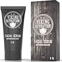 Viking Revolution Microdermabrasion Face Scrub for Men - Facial Cleanser to Exfoliate Skin, Deep Cleansing Facewash Removes Blackheads, Spots, Ingrown Hairs - Men's Daily Pre-Shave Face Scrub