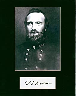 stonewall jackson autograph