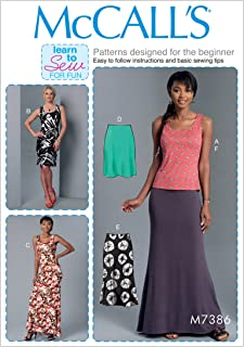 McCall's Patterns M73860Y0 Misses Knit Tank Top/Dresses and Skirts