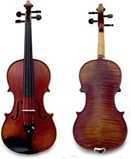 Sky Guarantee Mastero Sound Copy of Stradivarius 4/4 Size Professional Hand-made 4/4 Full Size Acoustic Two Piece Back Violin Antique Style Ebony Parts TOP QUALITY
