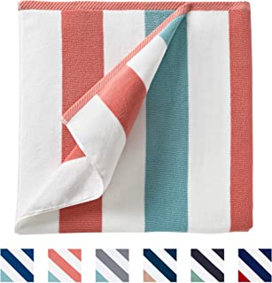Oversize Plush Cabana Towel by Laguna Beach Textile Co | Coral and Sea Glass | 1 Classic, Beach and Pool House Towel …