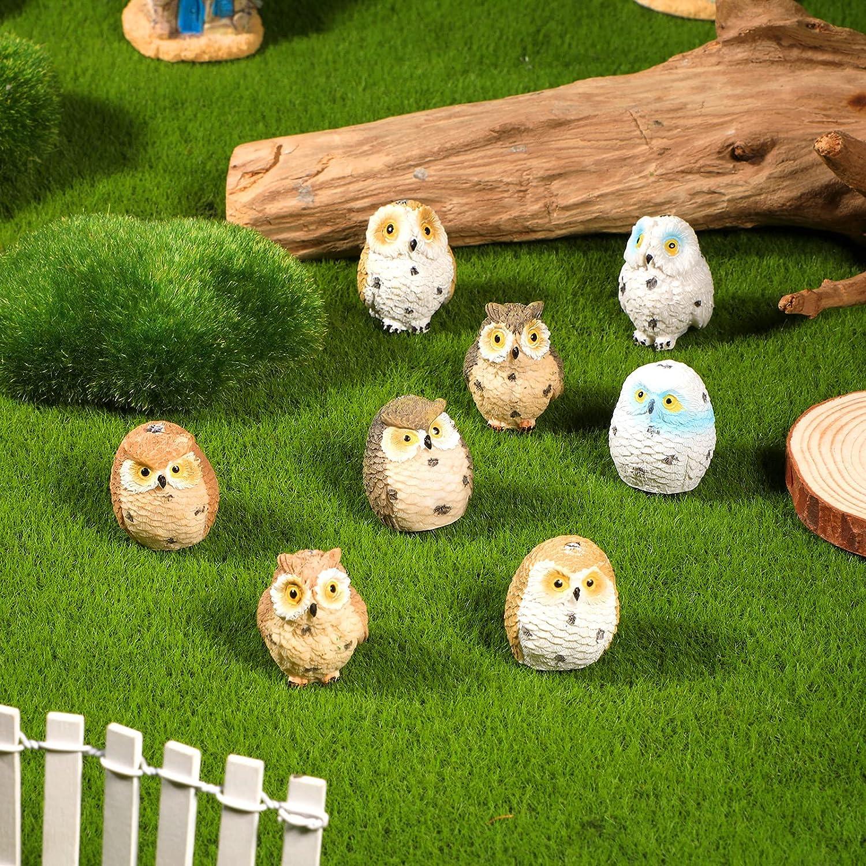 Jetec 8 Pieces Resin Mini Owl Fairy Surprise price Statue Garden Miniature Bombing new work Orn