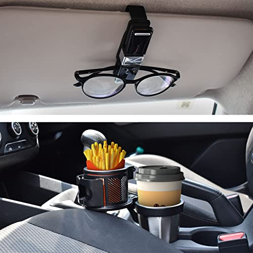 discount EcoNour Gift Bundle | Sunglasses Holder for Car (4 Pack) + discount Car Cup Holder with Mobile Mount | Multifunctional Expander Car Drink Holder | Sunglass Visor outlet online sale Clip with Ticket & Card Holder online sale