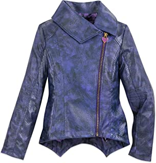 Mal Faux Leather Moto Jacket for Girls - Descendants 3 Size Purple