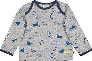 loud + proud Shirt Druck aus Bio Baumwolle, GOTS Zertifiziert Maglia a Maniche Lunghe, Grigio (Grey Gr), 128 (Taglia Produ...