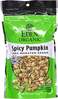 Organic Pumpkin Seeds Dry Roasted Spicy Eden Organic 4 oz Seeds