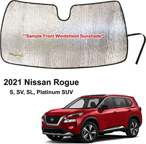 YelloPro Custom Fit Front Windshield Reflective Sunshade for 2021 Nissan Rogue SUV, Sun Shade Protector Accessories [Made in USA]