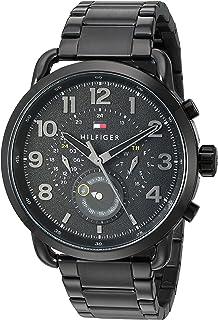 Men's Quartz Watch with Stainless-Steel Strap, Black, 21 (Model: 1791423)