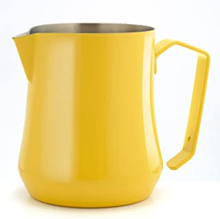 Metallurgica Motta 8007986042507 Motta Stainless Steel Tulip Milk Pitcher and Jug, Yellow, 17 Fl. Oz, One size