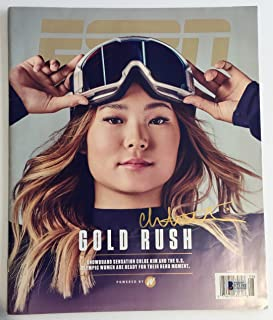 Chloe Kim Signed ESPN Magazine ((Olympic Gold Medal Snowboarder). Signed at private autograph session. Beckett Authentication Services BAS LOA.