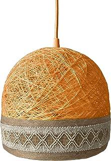 Lámpara de techo boho naranja, Lámpara colgante moderna, Lámpara nórdica, Decoración boho, Lámpara de techo decorativa, Lá...
