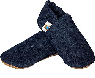 SKIPS Baby Non-Slip Booties Shoes for Baby Girl & Boy - Denim Print