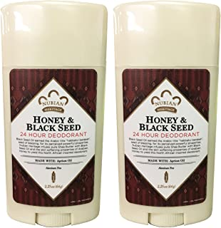 Nubian Heritage Honey and Black Seed Deodorant With Wild Honey, Apricot Oil, Babassu, Carrot and Macadamia Nut Oils, 2.25 ...