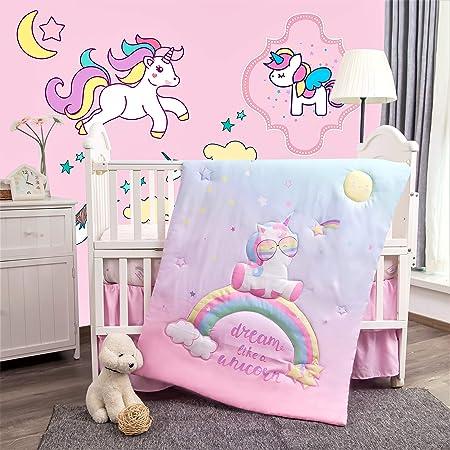 Pink unicorn baby Bedding Set Fit bébé 120x60cm lit bébé 140x70-Baby Girl Boy