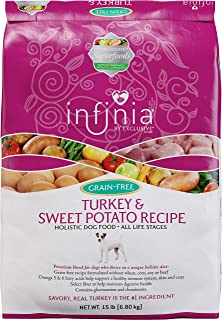 Infinia | Turkey and Sweet Potato Grain-Free Adult Dog Food | Nutritionally Complete - 30 Pound (30 lb.) Bag