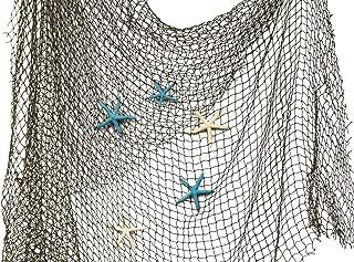 Nautical Crush Trading Fishing Net 5' x 7' with Blue and White Finger Starfish | Net with Finger Starfish 3
