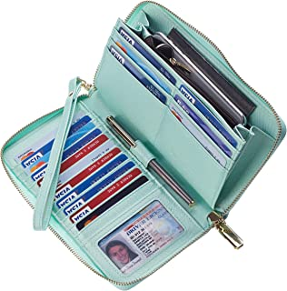 Womens Wallet Genuine Leather RFID Blocking Purse Credit...