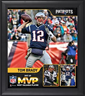 "Tom Brady New England Patriots 2017 NFL MVP Framed 15"" x 17"" Collage - NFL Player Plaques and Collages"
