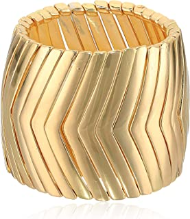 Chevron Design Wide Stretch Bracelet for Women