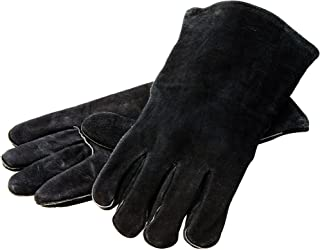 "Lodge 14.5"" Leather Outdoor Cooking Gloves - Heat Resistant Gloves for Cast Iron Cooking"